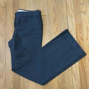 J Crew navy pinstripe low fit trouser size 4